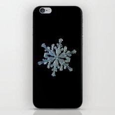 Real snowflake macro photo - 13.02.17 2 black iPhone & iPod Skin