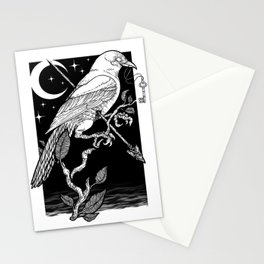 Night Crow Stationery Cards