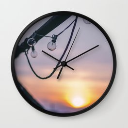 Rooftop Sunset Wall Clock