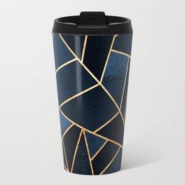 Navy Stone Travel Mug