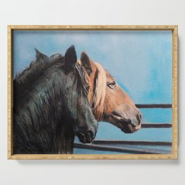 Caballos/Cabalos/Horses Serving Tray