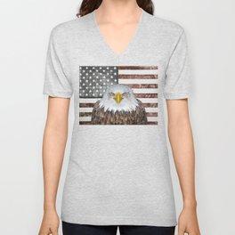 American Bald Eagle Patriot Unisex V-Neck