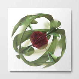 Magnetic Rose Metal Print