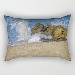 Frothy Spray on Rocks Rectangular Pillow