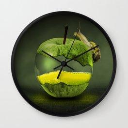 100% natural apple Wall Clock