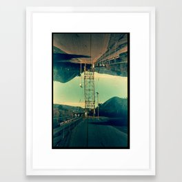 Landscapes c11 (35mm Double Exposure) Framed Art Print