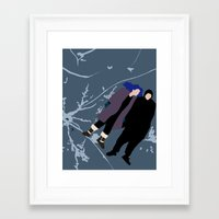 eternal sunshine of the spotless mind Framed Art Prints featuring ETERNAL SUNSHINE OF THE SPOTLESS MIND by Amanda Voyce