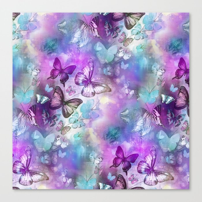 Butterflies Dreaming Canvas Print