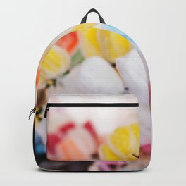 Colorful flowers at bazaar Backpack