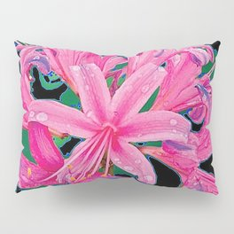 CORAL PINK LILY GARDEN FLOWERS PATTERN Pillow Sham