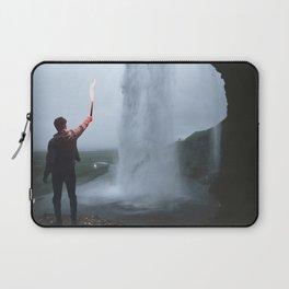The Adventurer at Seljalandsfoss Iceland Waterfall Laptop Sleeve