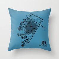 jfk Throw Pillows featuring JFK by 08 Left