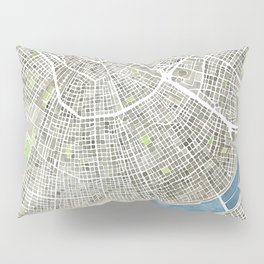 New Orleans City Map Pillow Sham