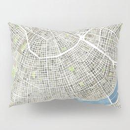 New Orleans City Map Pillow Sham