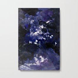 galaxy in blue Metal Print