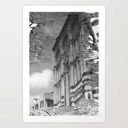 narcissistic duomo black and white Art Print
