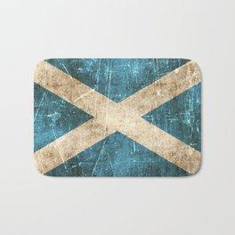Vintage Aged and Scratched Scottish Flag Bath Mat