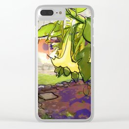 Healing Flowers Clear iPhone Case