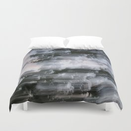 Abstract trees photography slow shutter Duvet Cover
