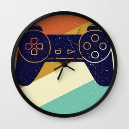 Retro Vintage Design With Controller Video Game Lover's Gift Wall Clock