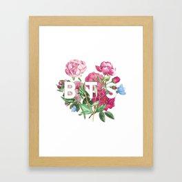 BTS Flowers Framed Art Print