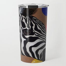 Zebra and Bubbles Travel Mug
