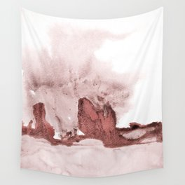 marsala and pink Wall Tapestry