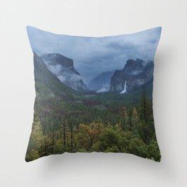 Yosemite Tunnel View Throw Pillow