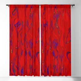 rippled falls red blue Blackout Curtain