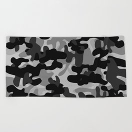 Camouflage (Gray) Beach Towel