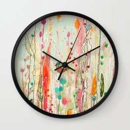 this strange feeling of liberty Wall Clock
