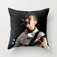 arctic monkeys Throw Pillows featuring Alex Turner // Arctic Monkeys by Hattie Trott