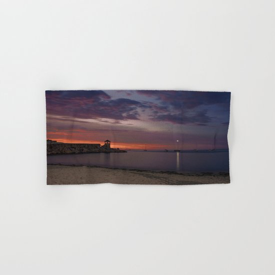 Front Beach After sunset Hand & Bath Towel