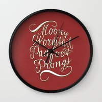 marauders Wall Clocks featuring marauders by Marta Lemon