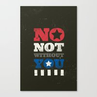 stucky Canvas Prints featuring No, Not Without You!! by MemoryRecovery