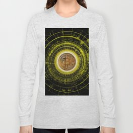 Bitcoin Blockchain Cryptocurrency Long Sleeve T-shirt