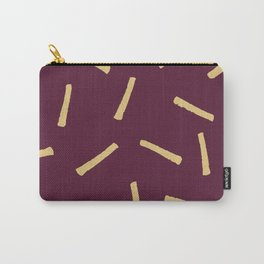 Burgundy Gold Pattern, Modern home decor - Printable gift, Rustic home decor Carry-All Pouch