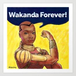 Wakanda Forever Art Print