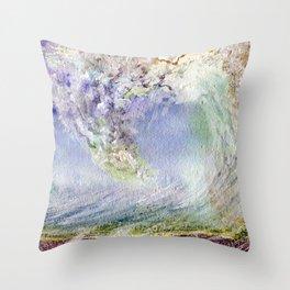 Fury Tsunami by Maureen Donovan Throw Pillow