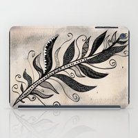 feather iPad Cases featuring FEATHER by Nika