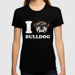 I Love Bulldog modern v2 T-shirt