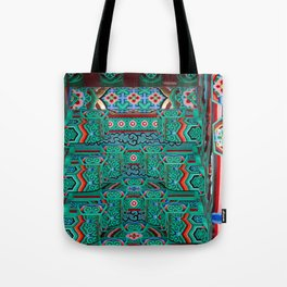 Eaves of a Buddhist Temple Tote Bag