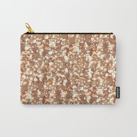 Golden confetti glitter sparkl Carry-All Pouch