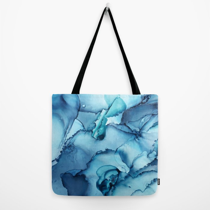 The Blue Abyss - Alcohol Ink Painting Tote Bag