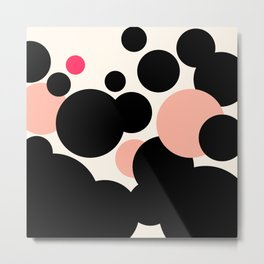 Dots & Blush Metal Print