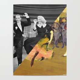 Henri Toulose Lautrec's Dance at Moulin R. & Ginger Rogers Poster