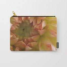 Peach Dahlia Carry-All Pouch