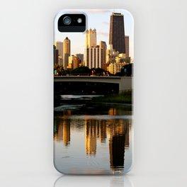 Chicago Skyline Reflection iPhone Case