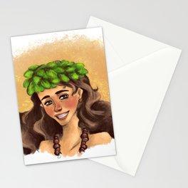 Hawaiian girl Stationery Cards