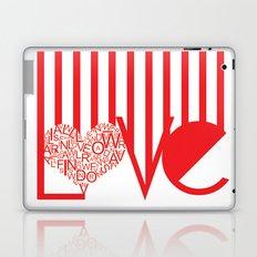 Love Typography Laptop & iPad Skin